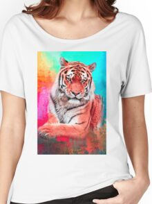 Orange Tiger Women's Relaxed Fit T-Shirt