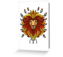 lion in ethniс style Greeting Card