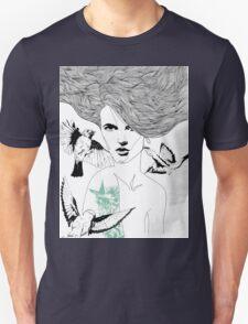 Birdie - Fineliner Illustration T-Shirt