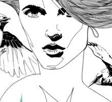 Birdie - Fineliner Illustration Sticker