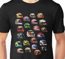 F1 2016 all drivers helmets Unisex T-Shirt