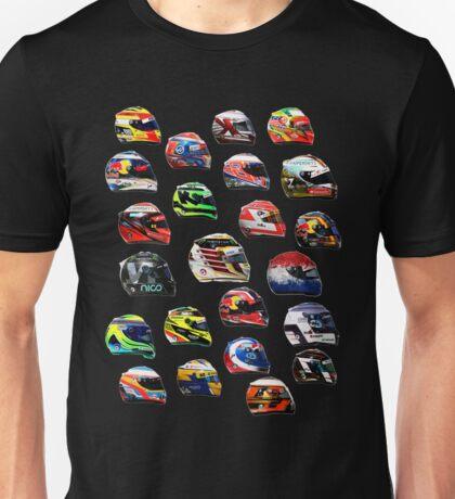 F1 2016 all drivers helmets Unisex T-Shirt