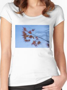 Abstract Impressions of Fall - Autumn Wind Melody Women's Fitted Scoop T-Shirt