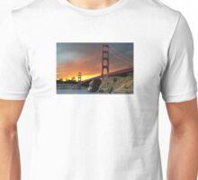Golden Gate Bridge Sunset Unisex T-Shirt