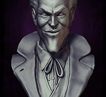 joKeR -Bust Sculpture- Clay render (2014) by Liam  Golden