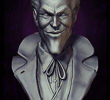 joKeR -Bust Sculpture- Clay render (2014) by Liam  Golden