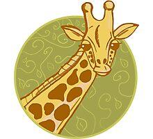 hand drawn giraffe Photographic Print