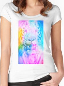 Tiger blue Women's Fitted Scoop T-Shirt