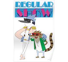 Mordecai & Rigby Miami Vice Poster