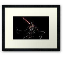Darth Deathstroke Framed Print
