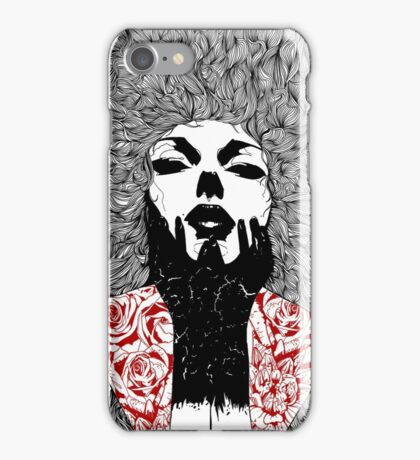 Grace - Fineliner Illustration iPhone Case/Skin