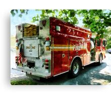 Back Of Fire Truck Canvas Print