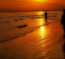 Beach Sunset People by SussexScenictys