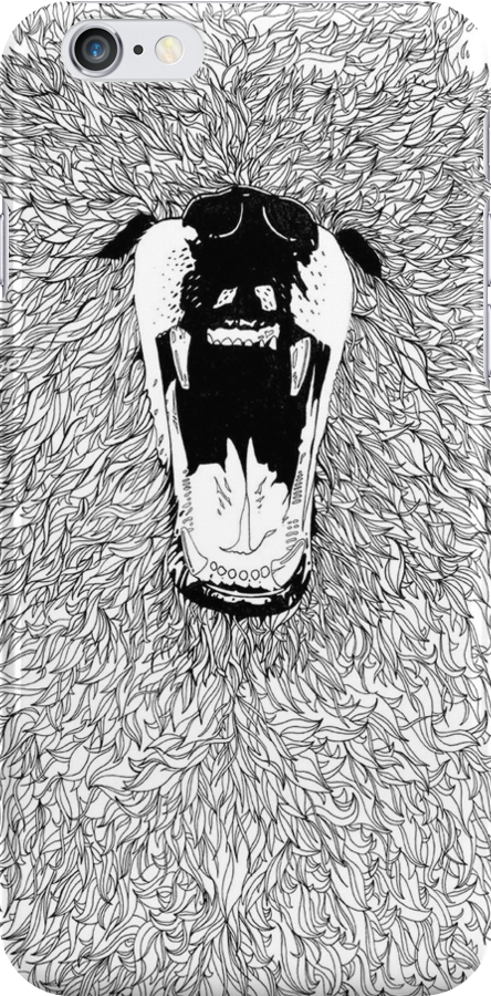 Grizzly - Fineliner Illustration by InkheartLondon