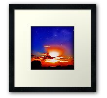 Sunset Blue (LS.33) Framed Print