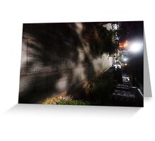 Night Scene Six - Street Shadows Greeting Card