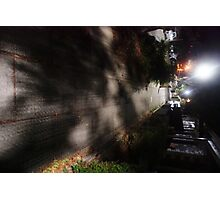 Night Scene Six - Street Shadows Photographic Print