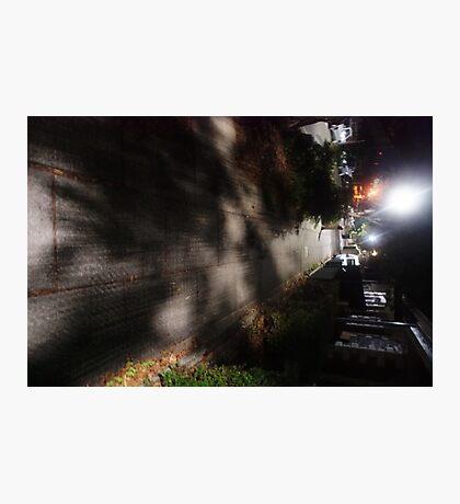 Night Scene Six - Street Shadows Photographic Print