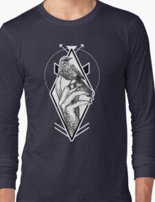 Bird In The Tattooed Hand (Black) Long Sleeve T-Shirt
