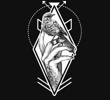 Bird In The Tattooed Hand (Black) Unisex T-Shirt