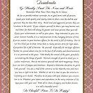 elegant desiderata poem by Desiderata4u