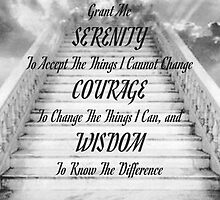 the serenity prayer on the stairway to heaven by Desiderata4u