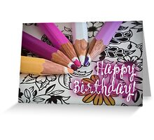 Happy Birthday - Artist 3 Greeting Card