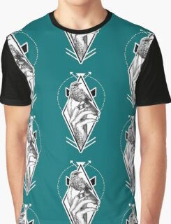 Bird In The Tattooed Hand (Colour) Graphic T-Shirt