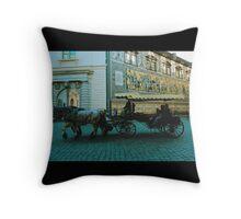 horse cart  Throw Pillow