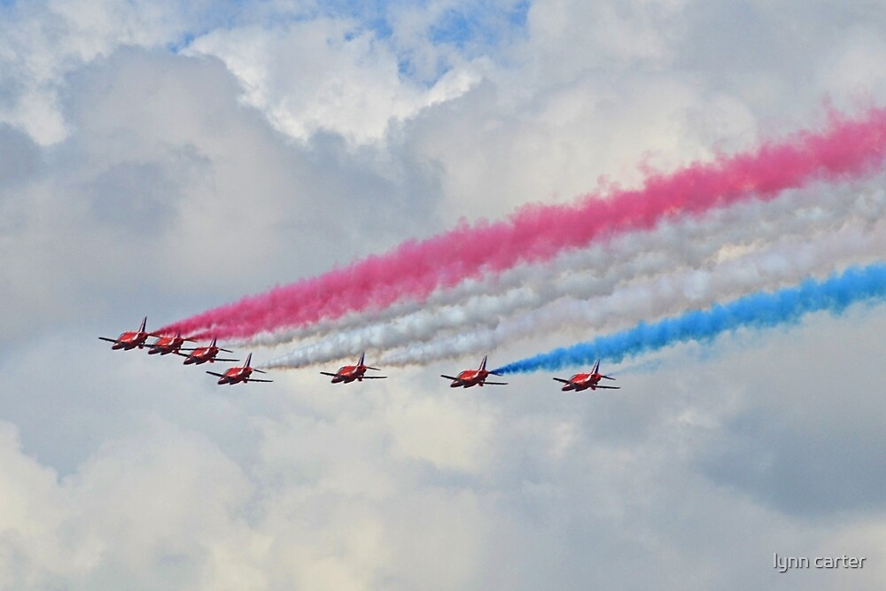 God Save Our Queen-   Red Arrows. by lynn carter