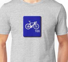 Bike Scrabble Tile (Blue) Unisex T-Shirt