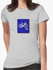 Bike Scrabble Tile (Blue) Womens Fitted T-Shirt