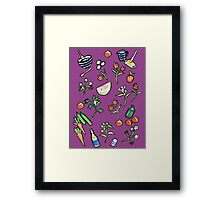 Cooking Chef Collage Framed Print