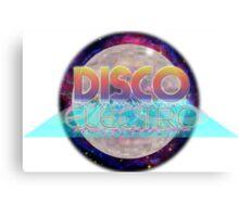 Electro Disco Ball Canvas Print
