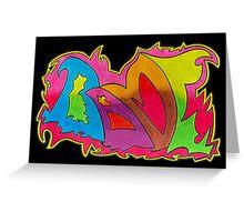 BAMF graffiti style Greeting Card