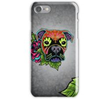 Boxer in Fawn - Day of the Dead Sugar Skull Dog iPhone Case/Skin