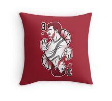 King of Three : Red Rocket Throw Pillow