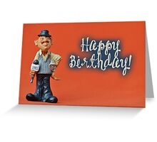 Happy Birthday - Journalist 02 Greeting Card