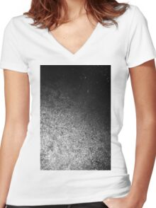 DARK COSMOS Women's Fitted V-Neck T-Shirt