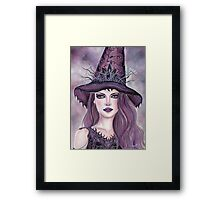Contessa fantasy witch art by Renee Lavoie Framed Print