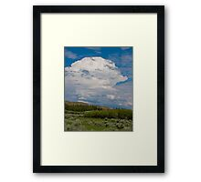 Woman of the Clouds Framed Print