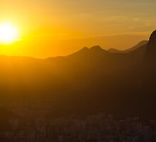 Sun sets on the City of God by Cherrybom