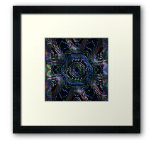 Electric Night by Riptider Red Framed Print