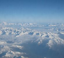 Swiss Alps Aerial View  by caitlinmarie201