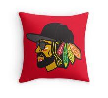 Hawks Playoff Beard Throw Pillow