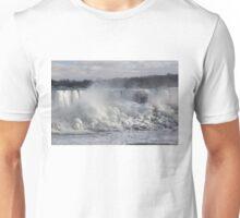 Niagara Falls Spectacular Ice Buildup - American Falls, New York State, USA Unisex T-Shirt
