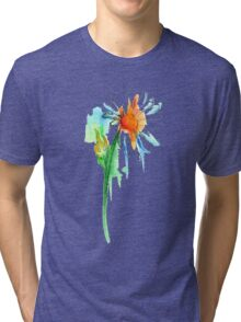Daisy Watercolor Tri-blend T-Shirt