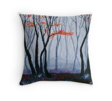 Early Morning Walk In The Woods Throw Pillow