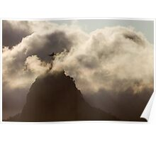 Redeemer in the Clouds, Rio De Janeiro, Brazil Poster