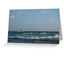 Hawaiian Morning - Sun, Surf, Sail, Waves Greeting Card